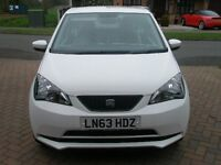 SEAT MII TOCA WHITE 63 plate low mileage NAVIGATION SYSTEM REAR PARKING ASSISTANCE, £ 20 ROAD TAX