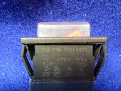 New No Box Rocker Switch 3120-f314-p7t1-w04x E-t-a 16 Amp 240 Volt Ac