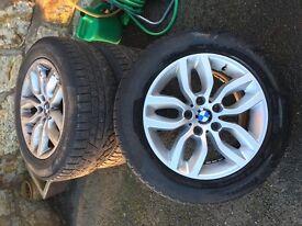 "4 x BMW X3 (F25 new model) 17"" Y-spoke style 305 alloy wheels with Pirelli winter tyres"