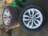 "4 x BMW X3 (F25 new model) 17"" Y-spoke style 305 alloy wheels with Pirelli winter and summer tyres"