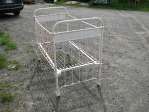 Antique Wrought Iron Crib