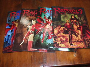 BD '' RAPACES TOMES 1 a 4 '' GRAND FORMAT.