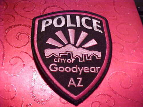 GOODYEAR ARIZONA PINK CANCER POLICE PATCH SHOULDER SIZE UNUSED