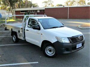 2014 Toyota Hilux TGN16R MY14 Workmate 4x2 White 5 Speed Manual Cab Chassis Kalamunda Kalamunda Area Preview