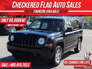 2012 JEEP PATRIOT NORTH EDITION 4X4-ONLY 89,000 KM!!