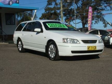 2004 Ford Falcon BA Futura White 4 Speed Auto Seq Sportshift Wagon Kanwal Wyong Area Preview