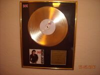 Michael Jackson Bad Gold Plated Disc