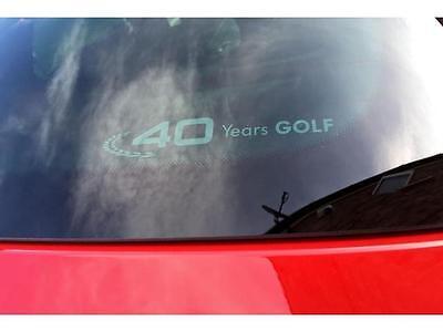 - 2015-2017 VW Volkswagen 40 Years Golf Back Window Sticker Decal Genuine OEM NEW