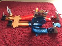 Blaze and the monster machines dome playset toy with Blaze and Crusher