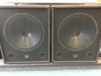 QTX 15 Inch Active Sub Woofer Speakers