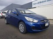 2016 Hyundai Accent RB4 MY16 Active Blue 6 Speed CVT Auto Sequential Hatchback South Burnie Burnie Area Preview
