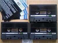 JL 3x TDK AD 90 ACCOUSTIC DYNAMIC CASSETTE TAPES 1984-1985 JOB LOT OR SOLO AD90