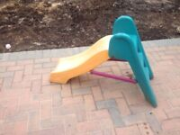 Small plastic slide for toddlers