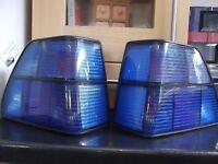Blue VW Golf Mk II Tail lights