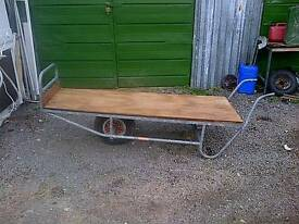 Antique garden centre wheelbarrow for sale