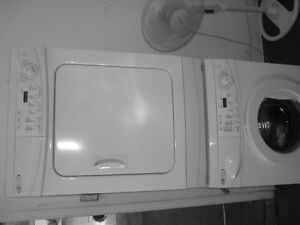 MAYTAG FRONT LOAD WASHER AND DRYER SET, APT SIZE