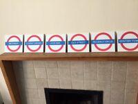 London Underground Table Plan Signs