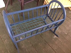 IM SELLING THIS RARE PIECE ITS A ANTIQUE HOMEMADE CRADLE