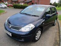 2009 (59 Reg) Nissan Tiida 1.6 109bhp 5 door Hatchback Petrol Manual like Astra Focus Golf