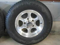 Two - 13 in. Alloy Rims with Carlisle ST radial tires
