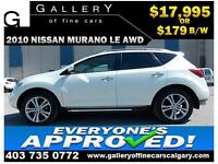 2010 Nissan Murano LE AWD $179 bi-weekly APPLY NOW DRIVE NOW