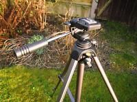 Camera Tripod and Case.