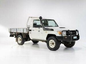 2007 Toyota Landcruiser VDJ79R Workmate (4x4) French Vanilla 5 Speed Manual Cab Chassis Cooee Burnie Area Preview