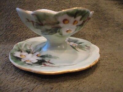 Rosenthal Bavaria Cup with attached base Finger Bowl Dessert Floral Vintage