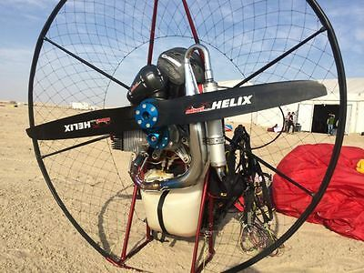Miniplane ABM Paramotor featuring the Minari 180cc engine: A very powerful unit!