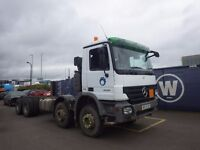 2008 Mercedes Actros 3236k Chassis Cab 8x4