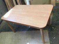 Formica Dining / Kitchen Table - 130cm x 80cm x 75.5cm Detachable top.