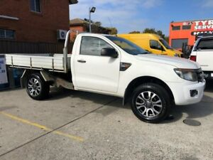 2013 Ford Ranger PX XL 2.2 (4x4) White 6 Speed Manual Cab Chassis Bankstown Bankstown Area Preview