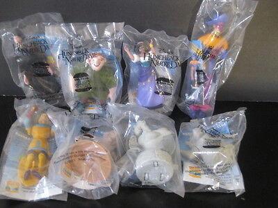 "Disney   ""Hunchback of Notre Dame Eight Toy Set""  NIP Burger King 1996"