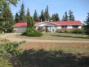 Secluded acreage with modern home near Bruderheim