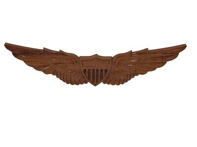 Army Aviator Aviation Pilot Helicopter Wings Wood Wooden Hanging Wall Plaque 19