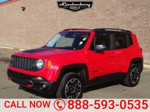 2016 Jeep Renegade 4WD TRAILHAWK Heated Seats,  Back-up Cam,  Bl