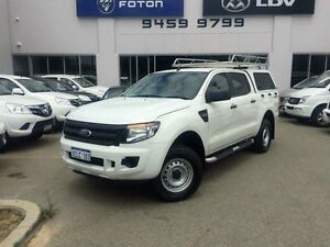 2014 Ford Ranger PX XL 2.2 HI-Rider (4x2) White 6 Speed Automatic Crewcab Beckenham Gosnells Area Preview