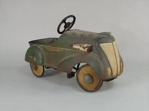 pedal cars, tractors, wagons, tricycles, tin toys etc