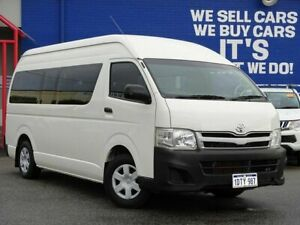 2011 Toyota HiAce KDH223R MY11 Commuter High Roof Super LWB White 4 Speed Automatic Bus