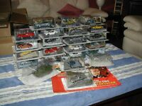James Bond 007 1/43 scale complete model car collection, 134 cars plus 3 gifts in blister cards.