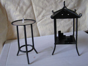 Wolfs Set of 4 , Candle Holders Etc