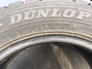 215/55R16 - Dunlop Wintermaxx tires