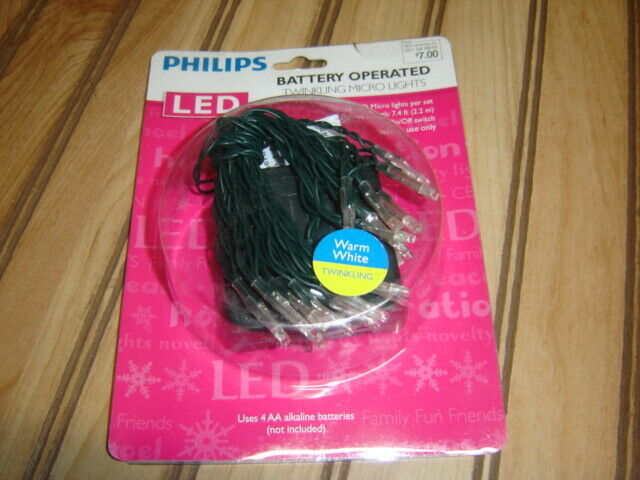 Philips 18ct Christmas LED Micro String Lights Battery Opera