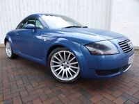 Audi TT 1.8 T Quattro Edition, in Metallic Blue, Full Leather, Full Service History and a Long MOT