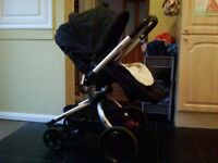 Mothercare spin pushchair (with maxi cosi car seat attachments)