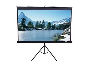 Elite Screens T85UWS1 Tripod Pro Series Projector Screen - 1:1 -