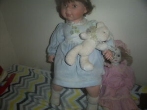 Doll and Desk,Boy Fishing,Girl Doll with teddy Bear,wooden doll. Kingston Kingston Area image 9