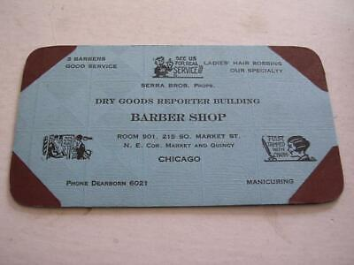 Barber Shop Serra Bros Reporter Bldg 215 S Market Chicago IL Blotter Hair Bobb
