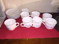 Tea Cups and Saucers Made in France - Good - Moving Abroad - Further Reduced Price Clearance