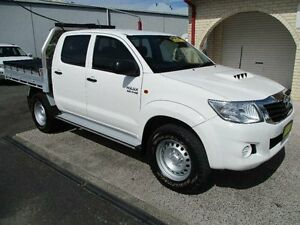 2013 Toyota Hilux KUN26R MY14 SR (4x4) White 5 Speed Automatic Dual Cab Pick-up South Nowra Nowra-Bomaderry Preview